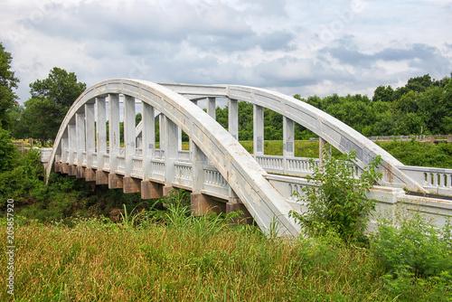Foto op Canvas Route 66 Brush Creek Bridge/Rainbow Bridge in Riverton/Baxter Springs, Kansas. (famous Route 66 attraction)