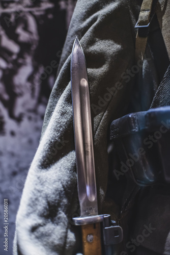 Photographie Old military bayonet knife