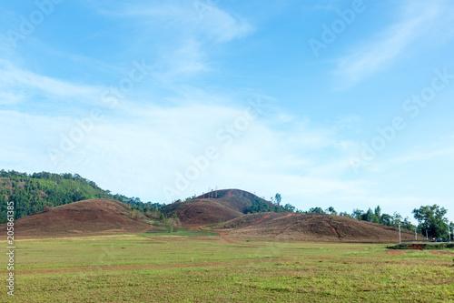 Foto op Plexiglas Pool Khao ya, Landscape Mountain and blue Sky at Ranong, Thailand