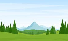 Summer Alpine Mountains Landsc...