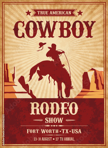 Vector Rodeo Invite template Wall mural