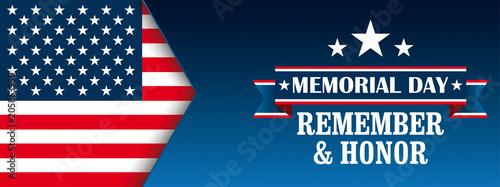 Header Memorial Day Honor USA Flag Fototapeta