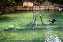 Scuba Diver Worker Is Over Vie...