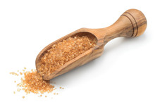 Brown Sugar In Wooden Scoop