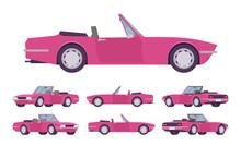 Pink Lady Cabriolet Cat Set