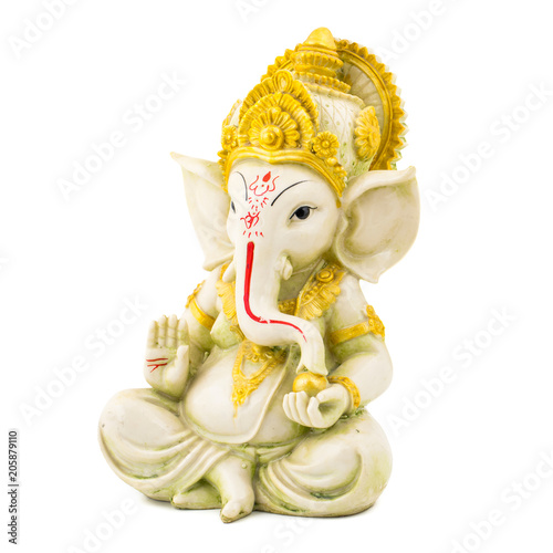 Ganesha Hindu God Ganesha Idol Isolated On White Background Buy
