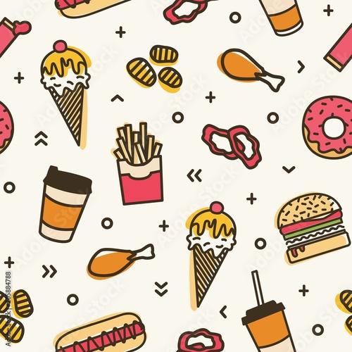 nowozytny-bezszwowy-wzor-z-fastem-food