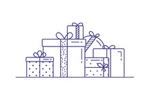 Holiday Gift Boxes Wrapped In ...