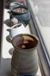 Pottery vases. Garden's pots.