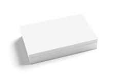 Business Card On Desk White