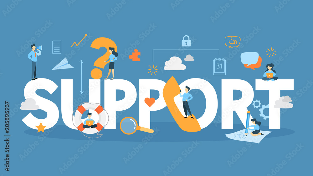 Fototapeta Support concept illustration.