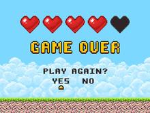 Game Over Pixel Art Arcade Gam...