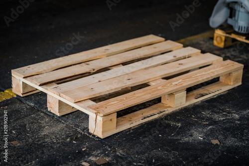 Obraz na płótnie euro paleta drewniana