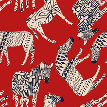 Horse Zebra Abstract Coloring ...