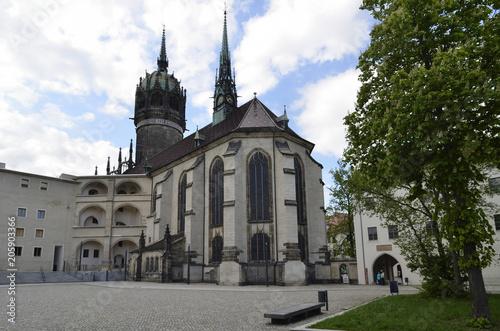 Spoed Foto op Canvas Theater Schlosskirche und Schlosshof, Wittenberg