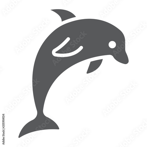 Fotografering Dolphin glyph icon, animal and underwater