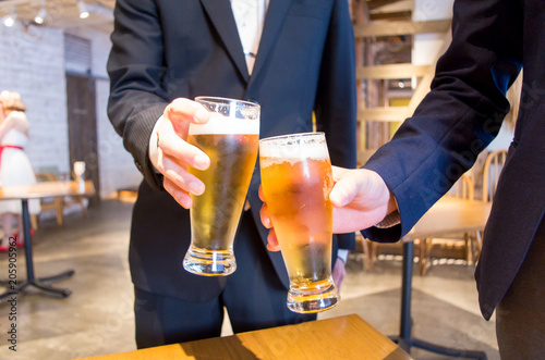 Fotografie, Obraz  グラスビール 乾杯