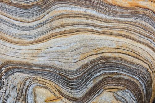 Fotografia banded sedimentary rock
