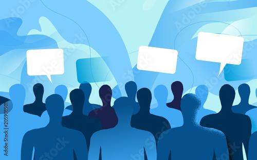 Persone della società civile che commentano e dibattono Wallpaper Mural