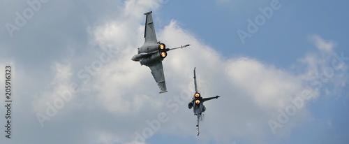 combat aérien bannière Canvas Print