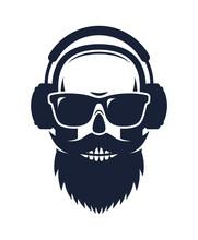 Bearded Skull Wearing Sunglass...