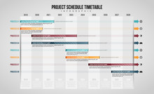 Project Schedule Timetable Infographic