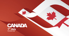 Canada Day Flag Ribbon Landsca...