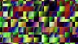 Fast flickering transparency squares. Polygonal pixel art style. Looping footage.