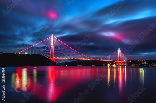 Fotografie, Tablou Yavuz Sultan Selim Bridge in Istanbul, Turkey