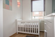 Interior of modern baby room simple white decoration