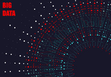 Abstract Graph Of Big Data, Design Of Infographics. Illustration