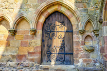 Medieval Doors In Bolton Abbey,North Yorkshire, Great Britain.