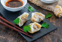 Chinese Pork Dumplings - Dim Sum - With Sweet Chili Dipping Sauce