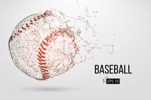 Silhouette Of A Baseball Ball. Vector Illustration