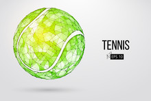 Silhouette Of A Tennis Ball Fr...