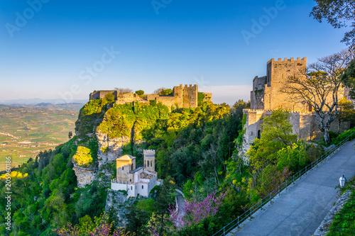Fotografie, Obraz  Castello di Venere in Erice, Sicily, Italy