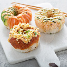 Sushi Donuts With Tuna And Sal...