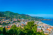Aerial view of the sicilian town cefalu, Italy