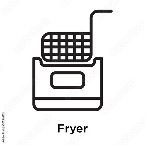 Fotografía  Fryer icon isolated on white background