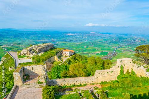 Foto op Aluminium Khaki Castello di Lombardia in Enna, Sicily, Italy