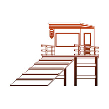 Lifeguard House Isolated Vector Illustration Graphic Design