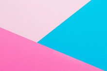 Blue And Pink Pastel Background. Flat Lay. Top View. Texture Of Pastel Colors