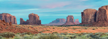 Sunrise Over The Buttes In Monument Valley, Arizona
