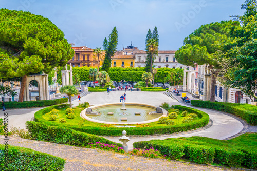 Bellini garden park in Catania, Sicily, Italy Fototapeta