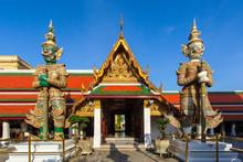 Demon Guardian In Wat Phra Kaew, Grand Palace In Bangkok City, Thailand