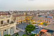 Aerial view of Piazza Duomo in Catania, Sicily, Italy