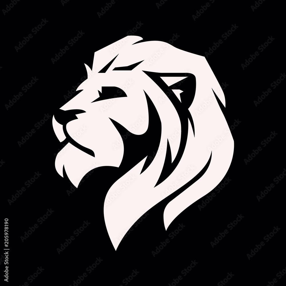 Fototapeta Lion head logo - vector illustration