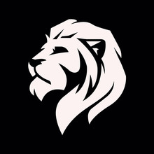 Lion Head Logo - Vector Illustration