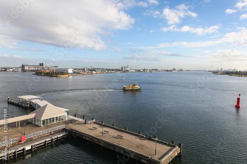 Newcastle Harbour and Stockton Ferry - Newcastle Australia