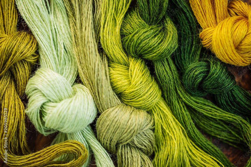 Fototapety, obrazy: Multicolor threads for embroidery cross-stitch, mulina.